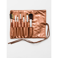 SET 7 PIECES PINCEAUX MAQUILLAGE OR