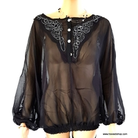 BLOUSE CHEMISIER SEXY M XL