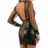 ROBE SEXY MOUSSELINE ET WETLOOK S AU L HOMME