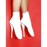 BOTTINES BLANCHES EROTIC BALLET 20 CM 41 AU 47