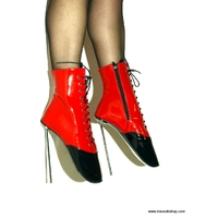 BOTTINES NOIRES ET ROUGES TALON METLA BALLET 21 CM 41 AU 47