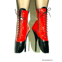 BOTTINES NOIRES ET ROUGES TALON BALLET 21 CM 41 AU 47