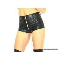 SHORT FAUX CUIR TRETCH NOIR S AU 5XL