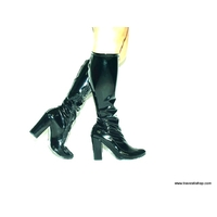 BOTTES GOGO LATEX  TALON LARGES 11 CM 41 AU 47