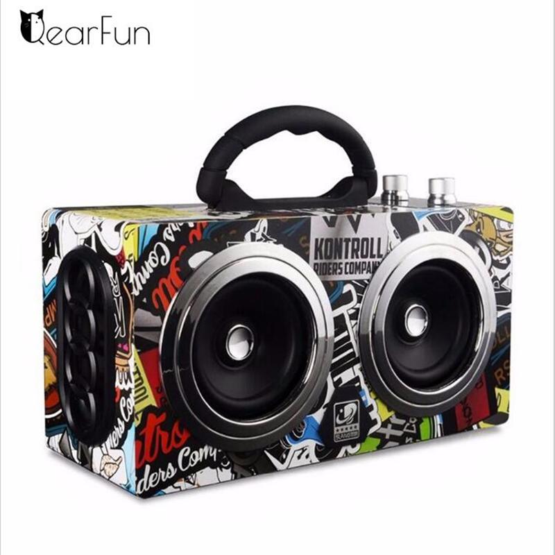 Haut-Parleur QearFun Bluetooth  Bass Sound HiFi 20 W  avec lecteur TF Carte FM radio