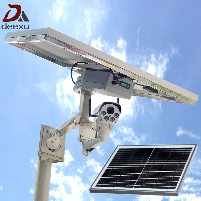 camera de surveillance sans fil d\'extérieur à énergie solaire IP 1080P 3G / 4G