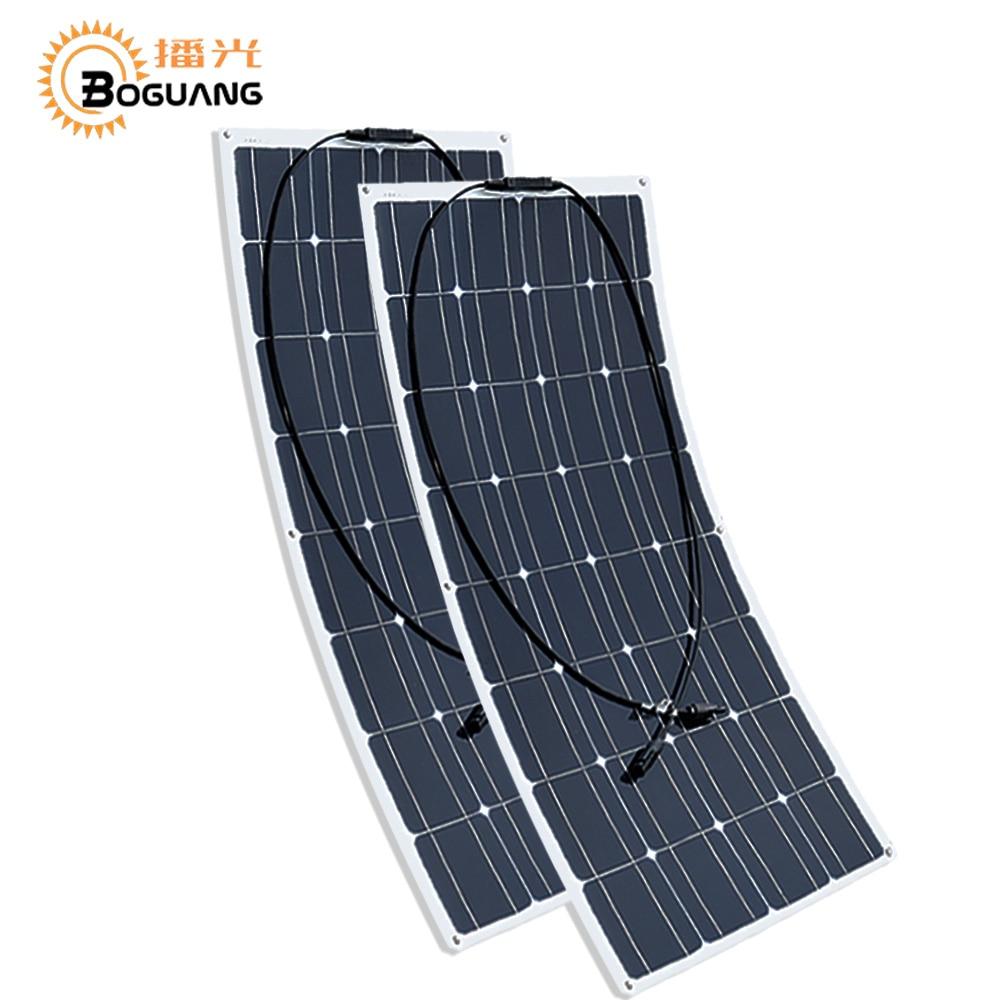 2 Panneau Solaire semi flexible 100w  200w 12 v