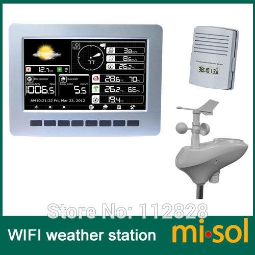 station météo solaire avec capteur sans fil
