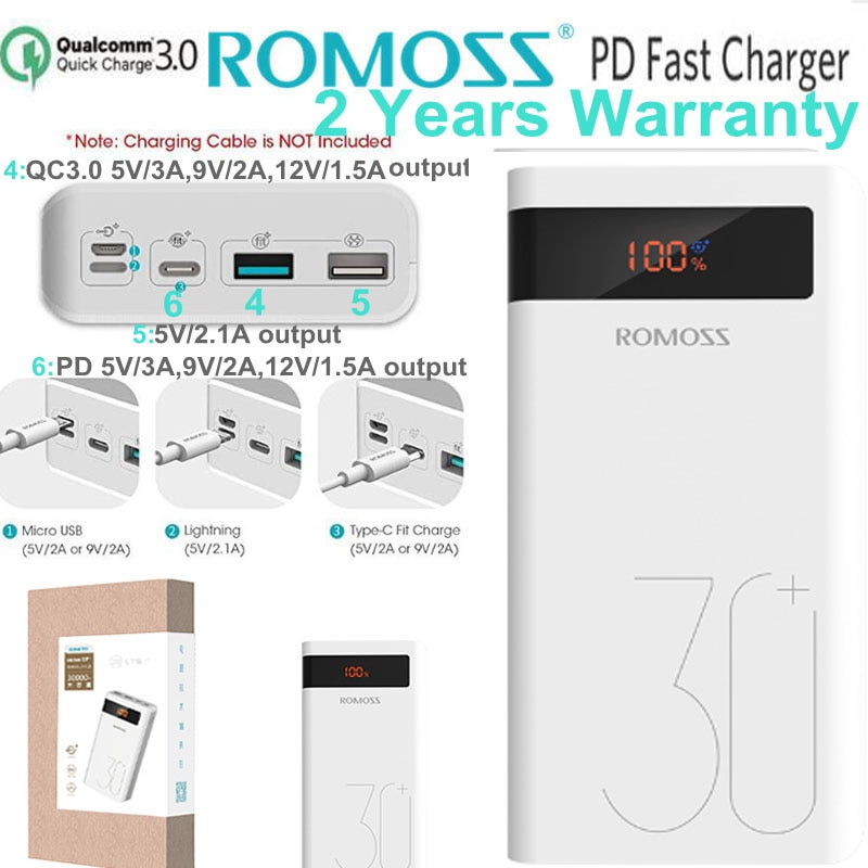 Batterie externe Romoss PD 30000 mah
