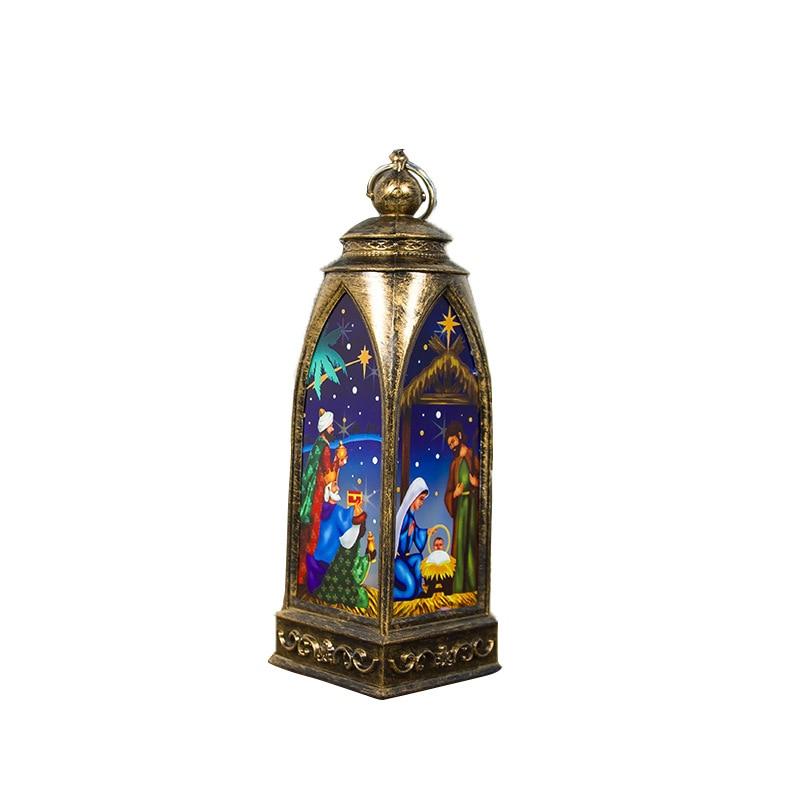 lanterne avec ornement peint