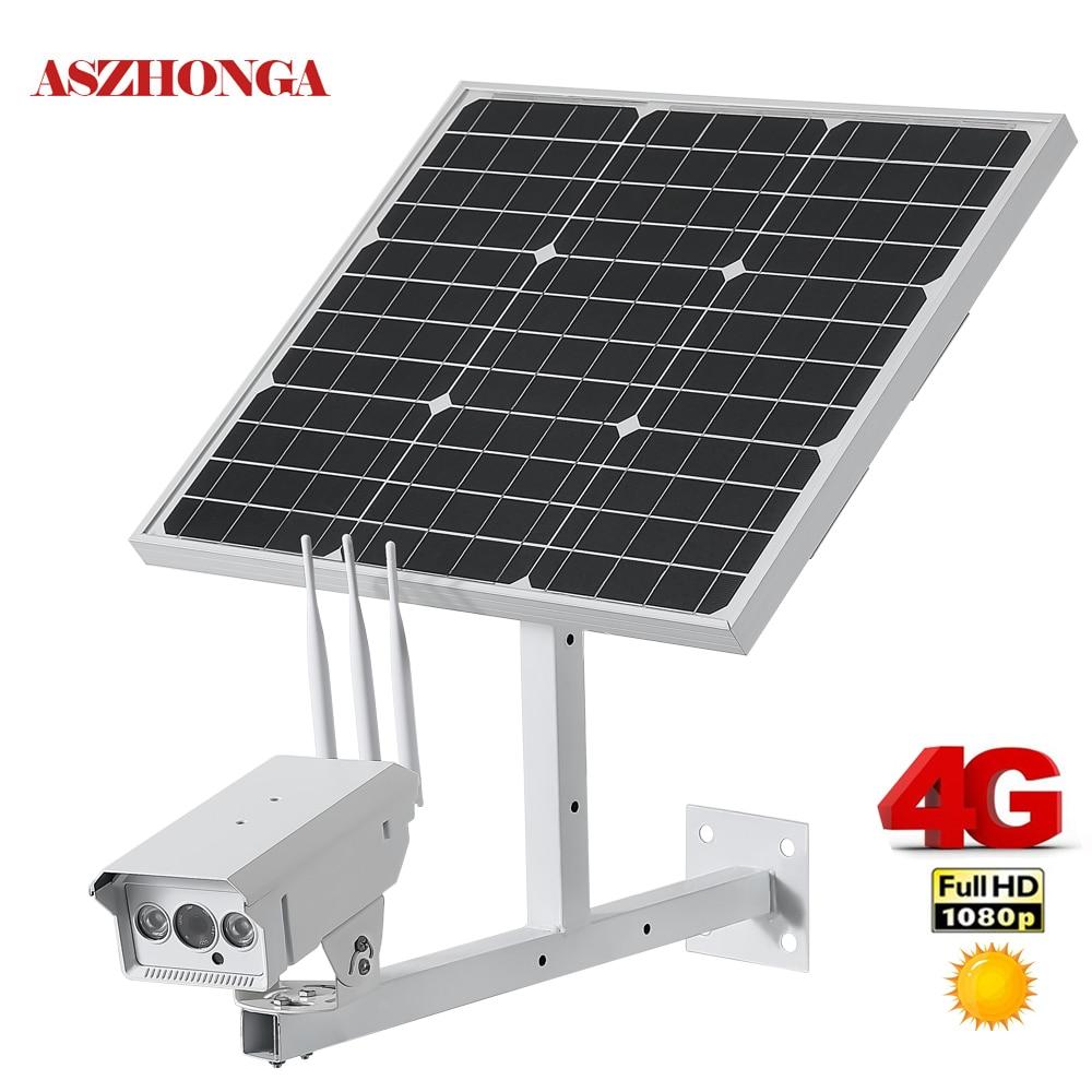 caméra extérieure de surveillance avec panneau solaire de 30W