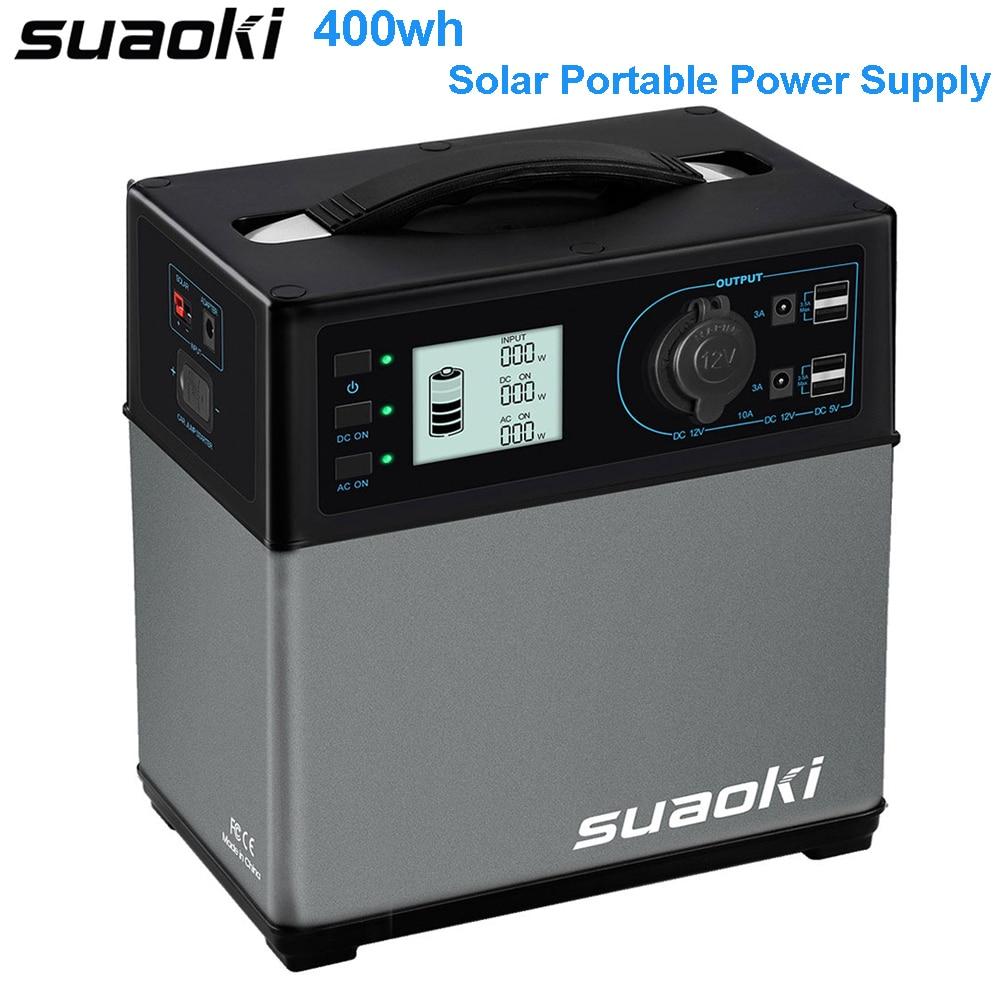 générateur de centrale solaire Portable Suaoki 400Wh