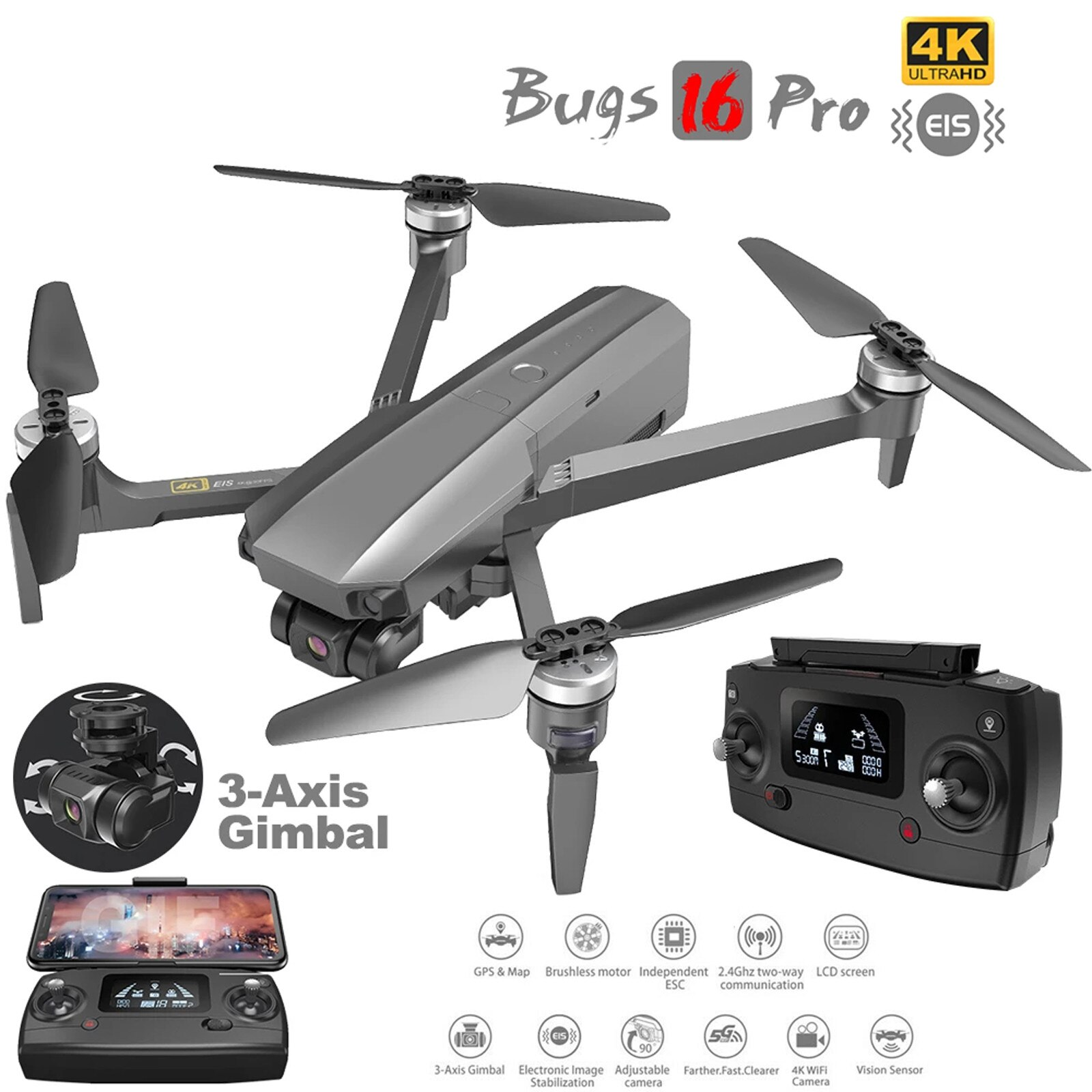 MJX-Bugs-B16-PRO-Drone-Avec-Cam-ra-HD-4K-Cardan-3-axes-Quadrirotor-L-EIE