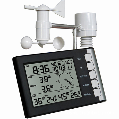 Station-m-t-o-professionnelle-vent-vitesse-direction-du-vent-temp-rature-humidit-pluie-433-mhz