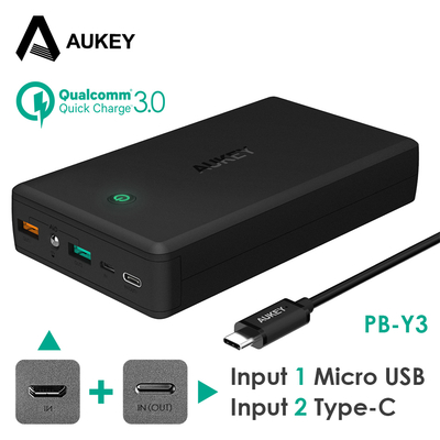 Powerbank AUKEY 30000 mAh  Charge Rapide Charge 3.0