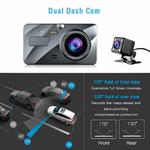 4-IPS-Double-Lentille-Voiture-Dash-Cam-FHD-1080-p-Tableau-de-Bord-Cam-ra-170