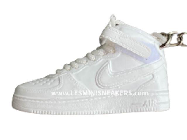 Porte clés sneakers Air Force 1 haute blanche OG