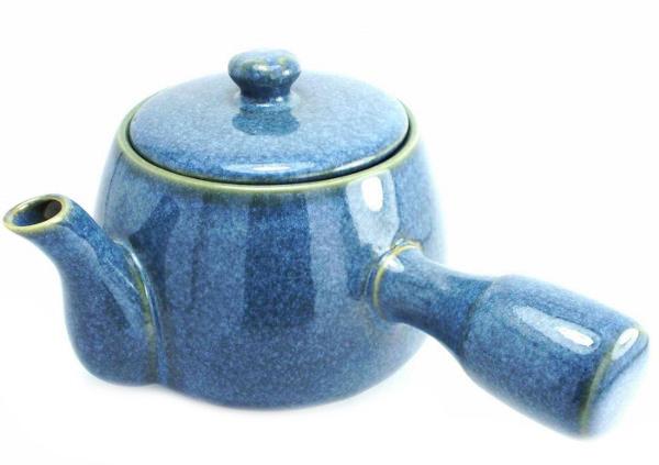 Theiere Vietnam Emaillee Blue Stone