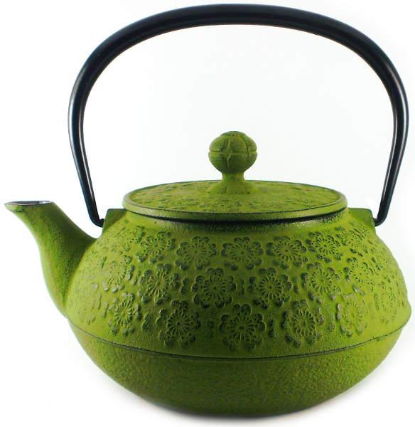 Théière Japonaise en Fonte IWACHU Modèle Sakura Vert Matcha