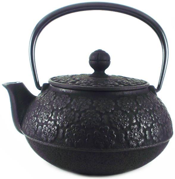 Th i re japonaise en fonte iwachu sakura noire 0 80 litre - Theiere japonaise en fonte ...