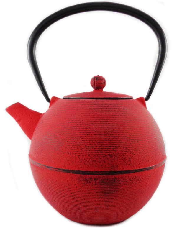 Théière Fonte 1 Litre Couleur Rouge Japonais Filtre Inox Emaillée