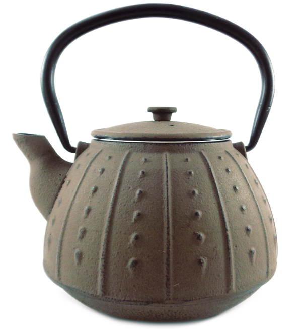 Théière en Fonte Chine Marron Taupe Filtre Inox Emaillée