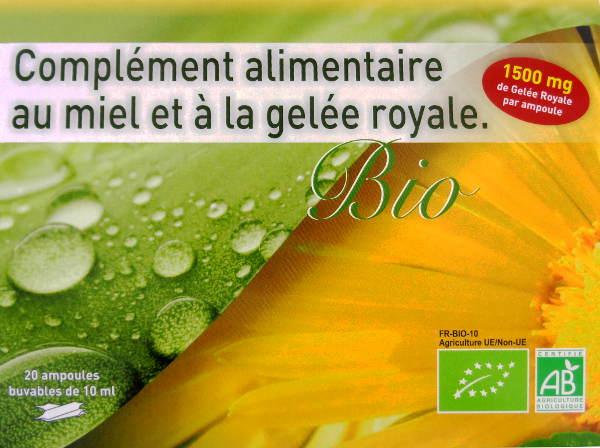 Gelée Royale Bio Ampoules 1500