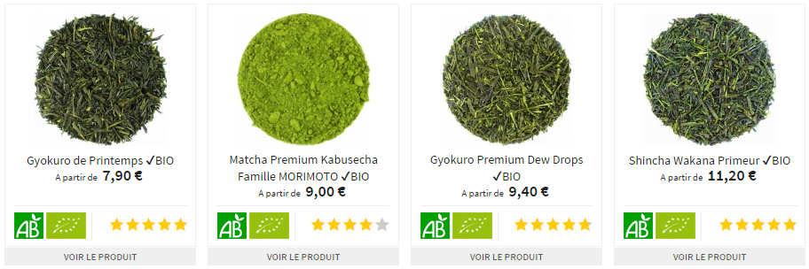 Gamme de Thé Vert Japonais Bio