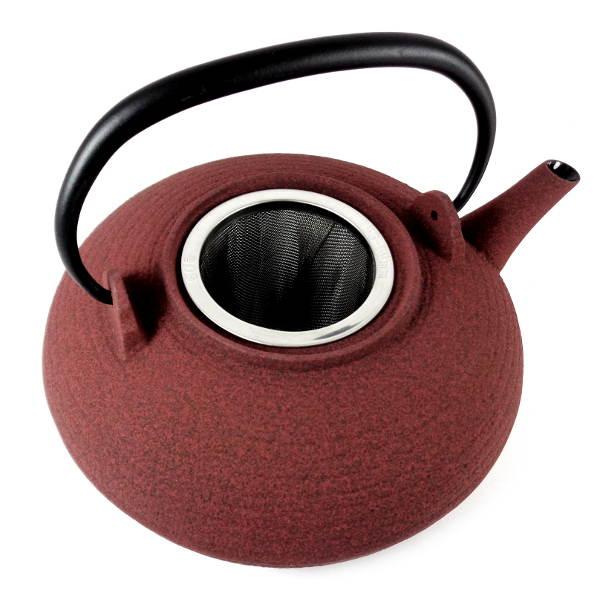 Th i re japonaise en fonte premium wazuqu itome rouge cendre 1 litre - Theiere japonaise en fonte ...