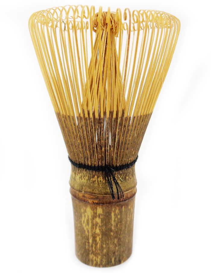 Fouet à Matcha Japonais en Bambou Foncé