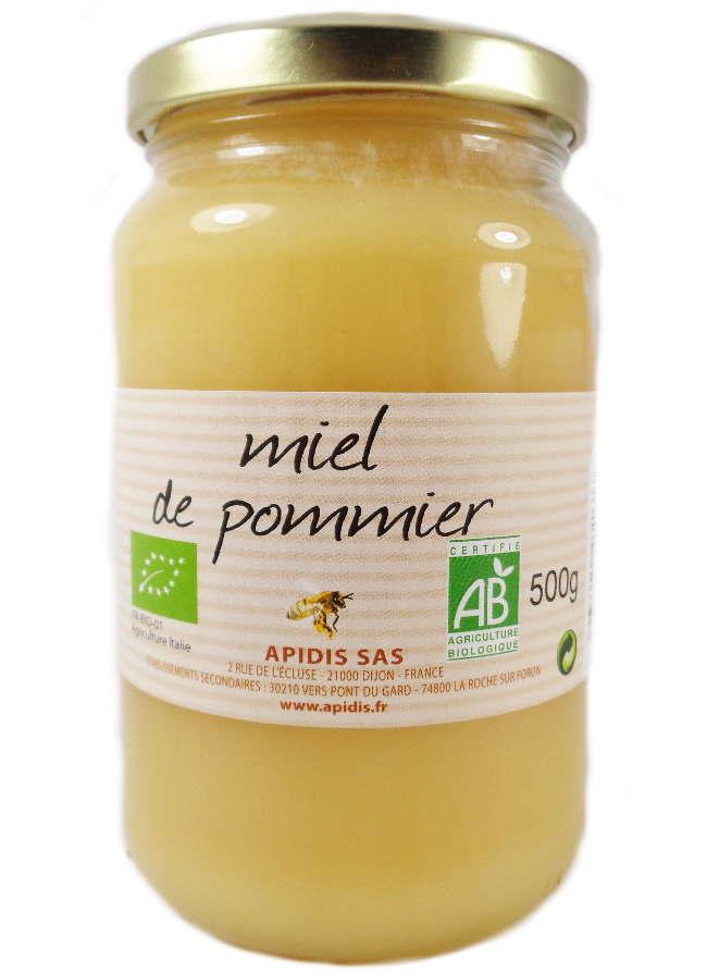 Miel de Pommier Bio Agriculture Biologique 500 Grammes
