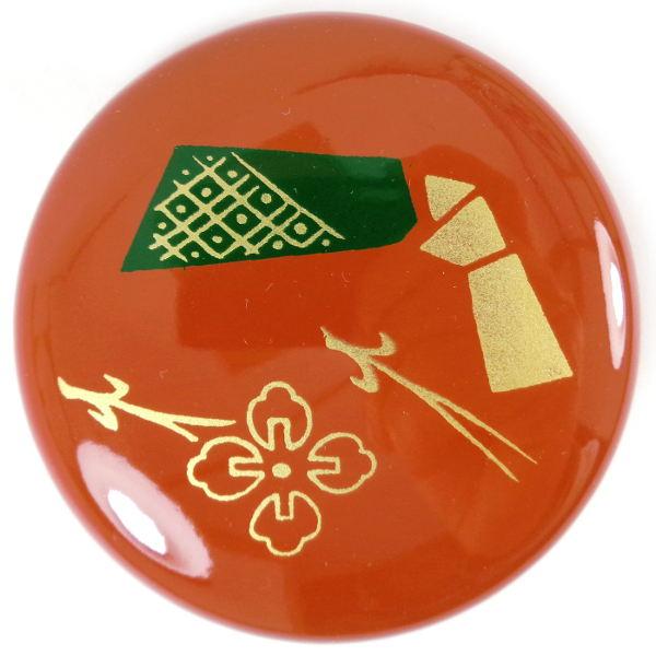 Boite a the macha rouge brique motif 1
