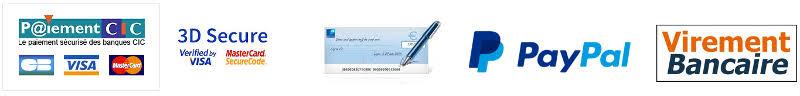 Moyens de Paiement 1001 TASSES Carte Paypal Virement Cheque