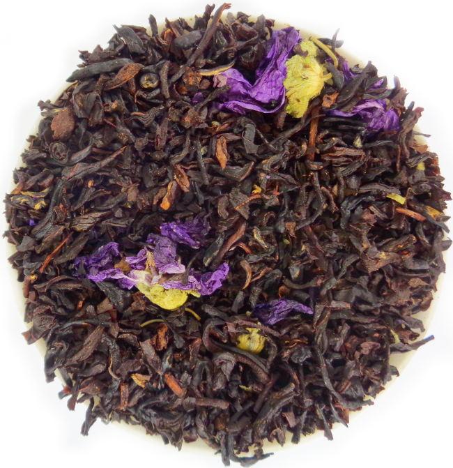 The Noir Biologique Parfumé Mauve et Violette Assam Inde du Sud