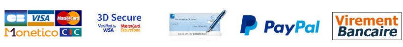 Paiement Secure 1001 TASSES Moncetico CIC Paypal Virement Chèque