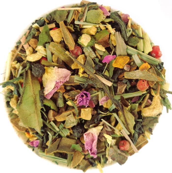 Thé Vert Biologique Ayurvédique Spicy Inspiration Médecine Indienne Anis, Cannelle, Gingembre, Poivre, Cardamome