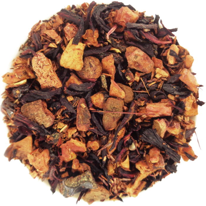 Infusion Pomme & Fruits Rouges Prune Cannelle Hibiscus Rooibos