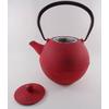Théière Fonte 1 Litre Couleur Rouge Japonais Filtre Inox