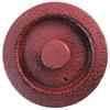Couvercle Théière Fonte Couleur Rouge Brique Marron