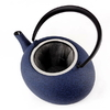 Theiere Japonaise Fonte Premium Wazuqu FUKU Bleu Cendre Galet 3