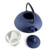 Theiere Japonaise Fonte Premium Wazuqu Muji Bleue 3