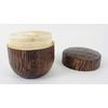 Boite à thé vert japonais matcha en bois 2 couvercles
