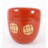 Boite a the macha rouge brique motif 22