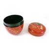 Boite a the macha rouge brique motif 12