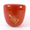 Boite a the macha rouge brique motif 13