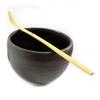 Bol et Spatule Préparation thé vert matcha japonais premium noir