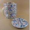 Tisanière Céramique Japon Motif Fleurs Bleues Filtre Inox