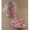 Tisanière Céramique Japon Fleurs Rouges Filtre Inox