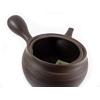 Théière Japonaise Terre Cuite Kyusu Tokoname Yaki Noire Striée Filtre Ceramique