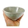 Bol a Matcha Fabrique au Japon pour The Vert Japonais Chawan Blanc Gris Ceramique Artisanal